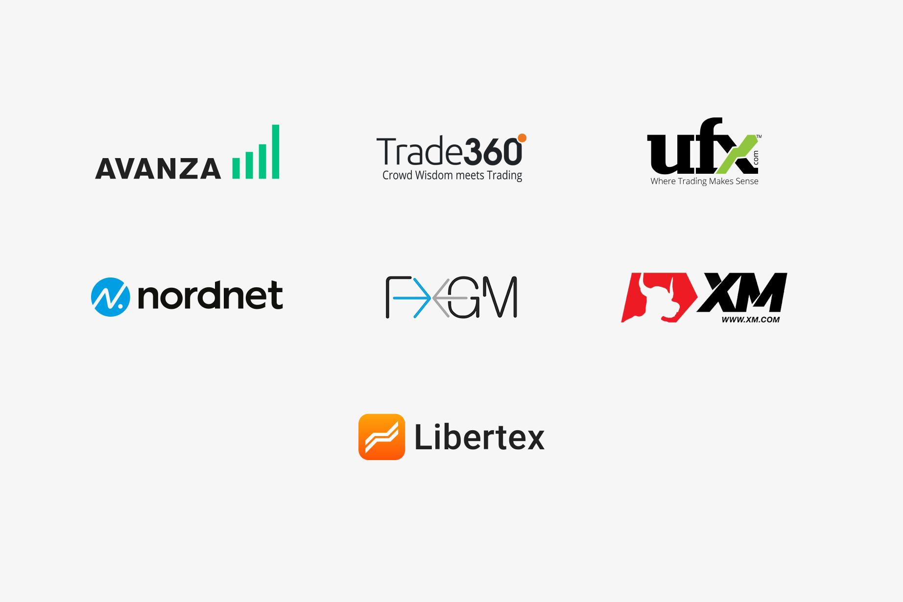 Trustly Finserv - Trading partner logos