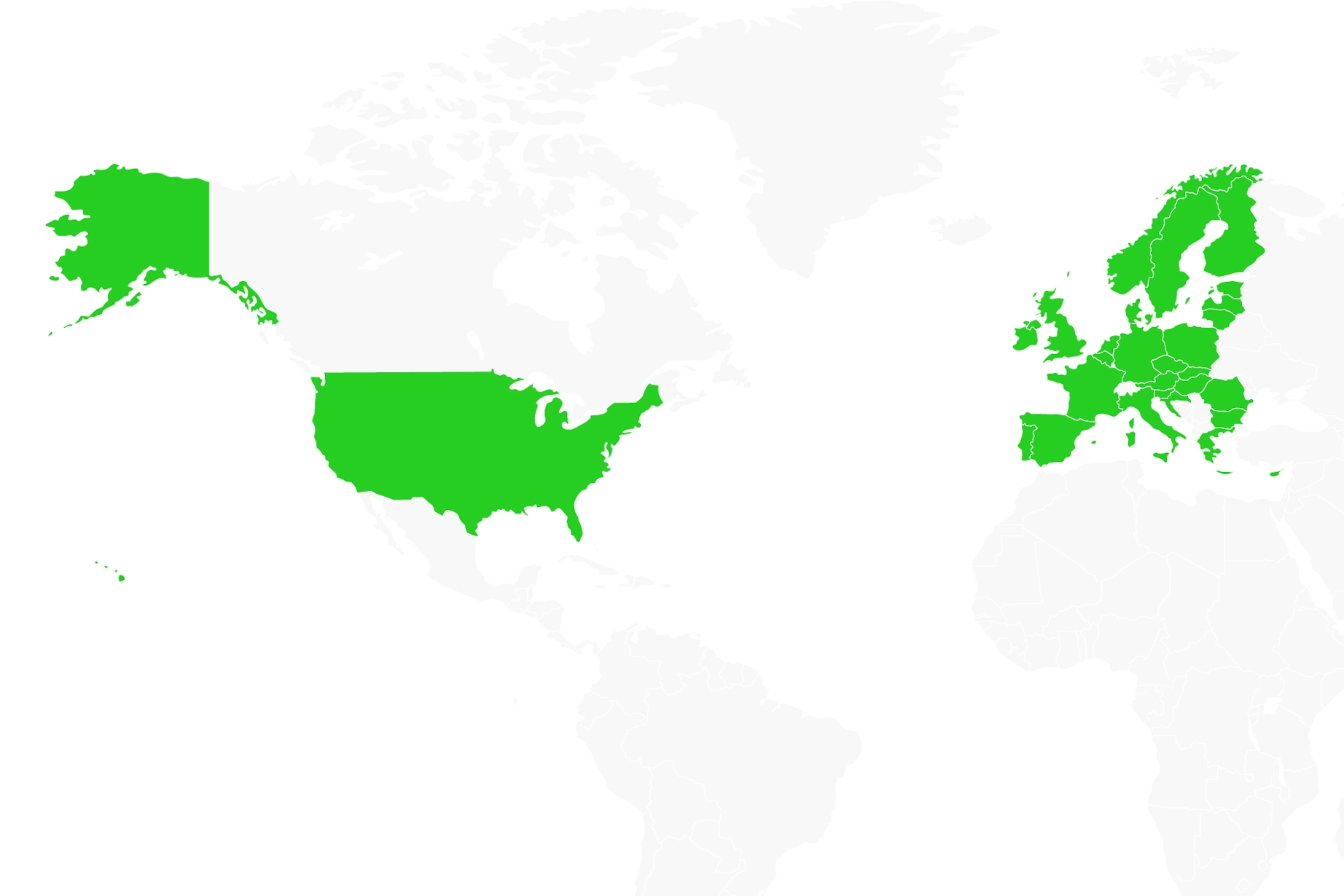 Trustly Partners - Trustly coverage map