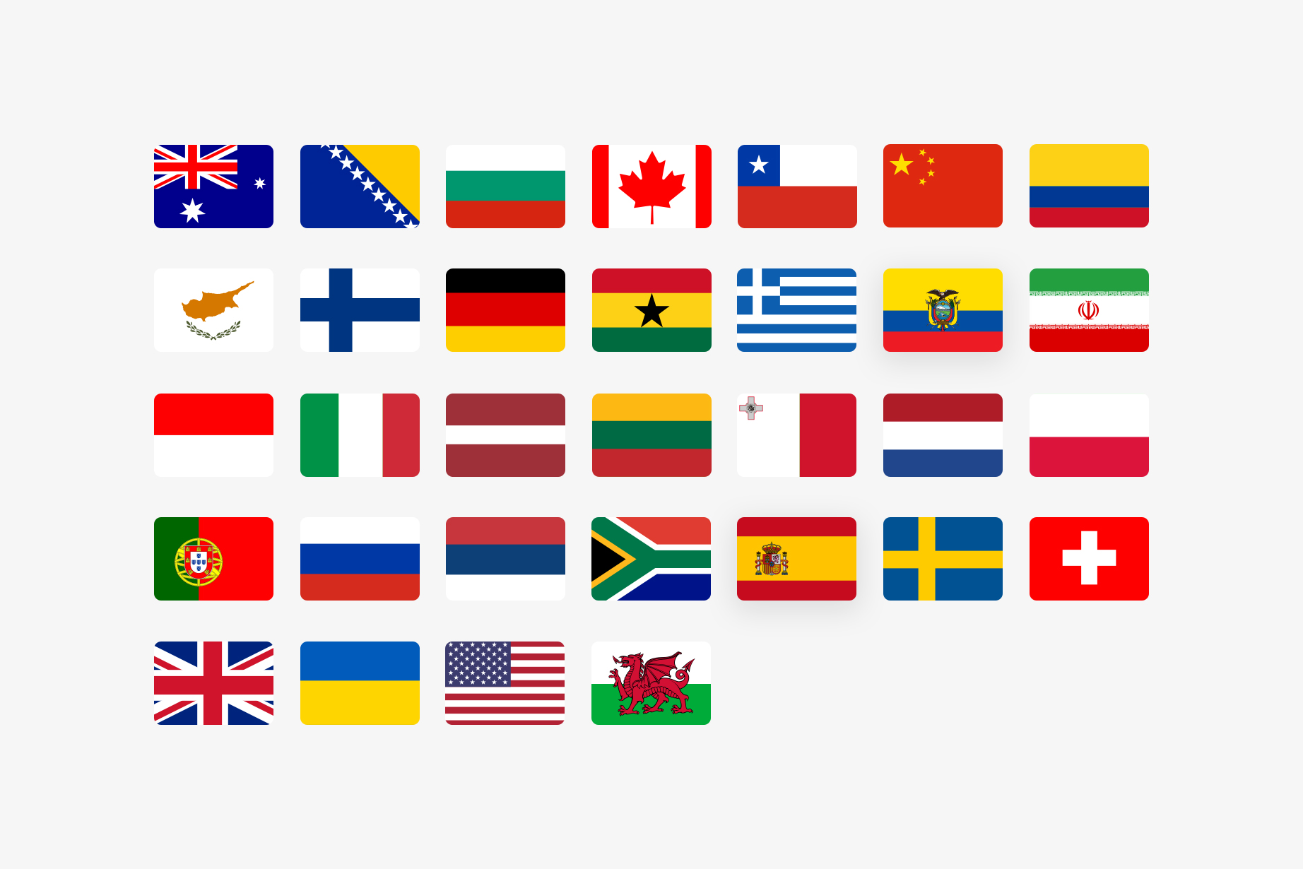 Trustly Careers - Country flags