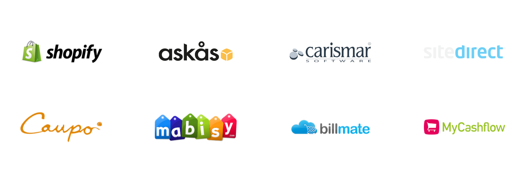 Trustly Current Partners - Platform logotypes