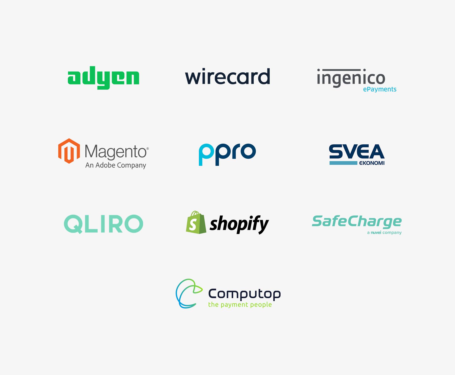 Trustly Partners - Merchant logotypes