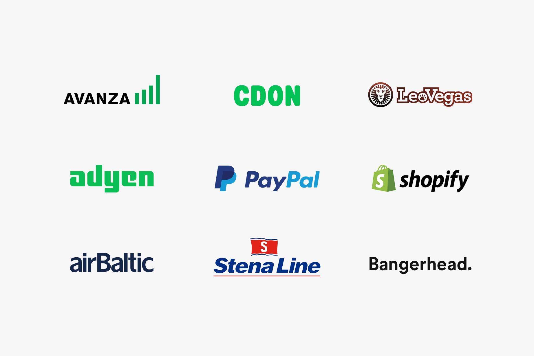 Trustly - Merchant logos